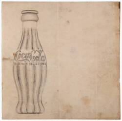 COCA-COLA BOTTLE ORIGINAL SKETCH