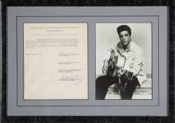 ELVIS PRESLEY GLADYS MUSIS SIGNED DOCUMENT