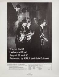 BEATLES 1965 HOLLYWOOD BOWL POSTER
