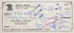 BRIAN WILSON AND MIKE LOVE SIGNED CHECKS