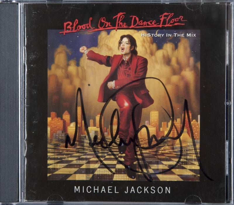 SIGNED BLOOD ON THE DANCE FLOOR CD