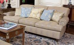 PAIR OF GEORGE SMITH ROLLED ARM SOFAS