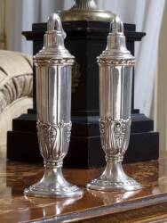PAIR OF SILVER RONSON LIGHTERS