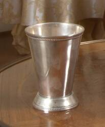 TWO SILVER METAL CUPS