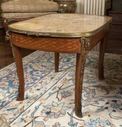 MARBLE TOPPED OCCASIONAL TABLE