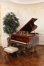 C. GUNTHER & SOHNE VICTORIAN BABY GRAND PIANO