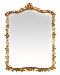 GILDED ROCOCO STYLE WALL MIRROR