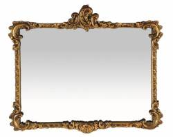 OVERMANTLE MIRROR WITH GILDED FRAME