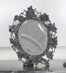 OVAL BEVELED TABLE MIRROR