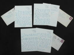 MIA FARROW COLLECTION OF LETTERS