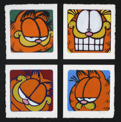 A SERIES OF FOUR GARFIELD LITHOGRAPHS