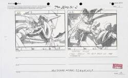 A GROUP OF MORGAN CREEK ANIMATION STORYBOARDS FROM