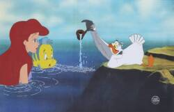 "A WALT DISNEY CELLULOID FROM ""THE LITTLE MERMAID"""
