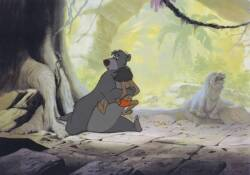 "A WALT DISNEY CELLULOID FROM ""THE JUNGLE BOOK"""