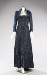 SHARON'S HARDY AMIES MIDNIGHT BLUE GOWN