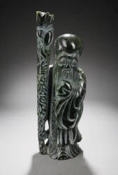 CHINESE CARVED STONE FIGURE OF SHOU-LAO