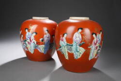 PAIR OF CHINESE PORCELAIN JARS