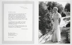 MARY PICKFORD SIGNED PHOTOGRAPH AND LETTER