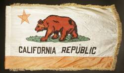 MARY PICKFORD OWNED CALIFORNA FLAG