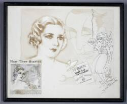 MARY PICKFORD EARLY ADVERTISING ARTWORK