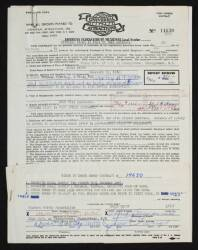 CHUCK BERRY SIGNED CONTRACT