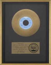 BEACH BOYS GOLD RECORD AWARD FOR 'I GET AROUND'