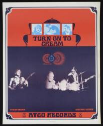 CREAM 1968 PROMOTIONAL POSTER