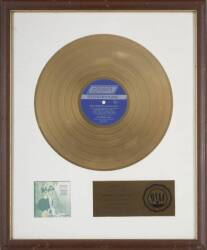 ROLLING STONES GOLD RECORD AWARD