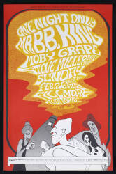 B.B. KING, MOBY GRAPE AND STEVE MILLER BAND POSTER