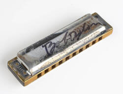 BOB DYLAN SIGNED AND PLAYED HARMONICA