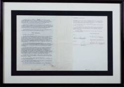 FRANK SINATRA SIGNED CAPITOL RECORDS AGREEMENT
