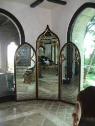 A GOTHIC REVIVAL MIRRORED SCREEN