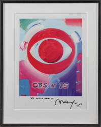 PETER MAX INSCRIBED CBS PRINT