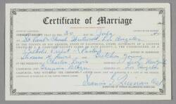 LORETTA YOUNG MARRIAGE CERTIFICATE
