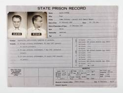 """KISS TOMORROW GOODBYE"" PROP PRISON RECORD"