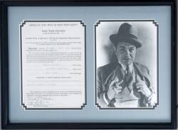 EDWARD G. ROBINSON SIGNED CONTRACT