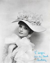AUDRY HEPBURN SIGNED PHOTOGRAPH