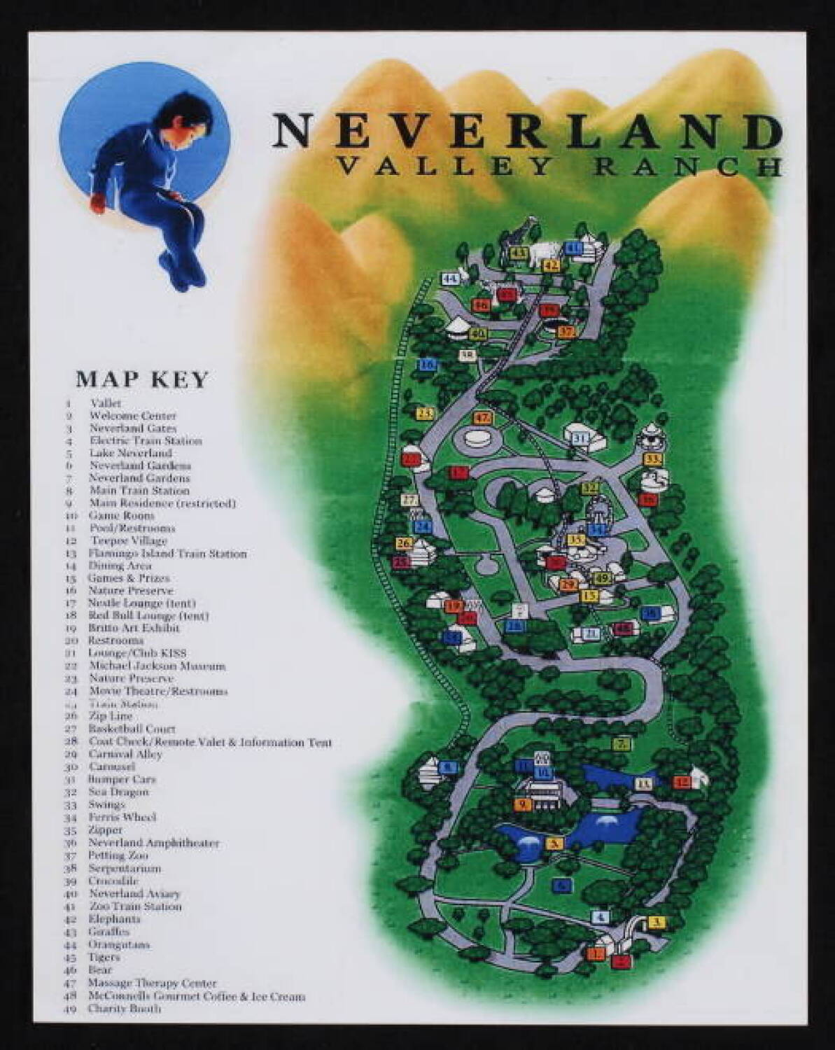 Neverland Valley Ranch Map And Do Not Disturb Sign Current Price 100