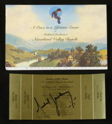 MICHAEL JACKSON SIGNED INVITATION