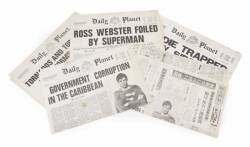 SUPERMAN III PROP NEWSPAPERS