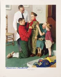 NORMAN ROCKWELL SIGNED IMAGE