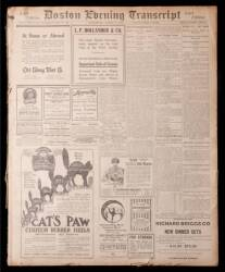 1912 BOSTON NEWSPAPER ADVERTISING THE TITANIC