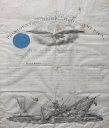 ABRAHAM LINCOLN SIGNED 1861 MILITARY DOCUMENT