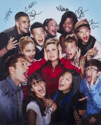 GLEE CAST SIGNED PHOTOGRAPHS