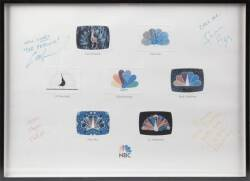 WILL & GRACE CAST SIGNED NBC PRINT