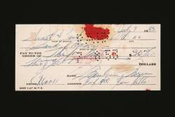 MARILYN MONROE HANDWRITTEN AND SIGNED CHECK