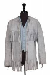 MICHAEL CRAWFORD VEST AND SUEDE JACKET