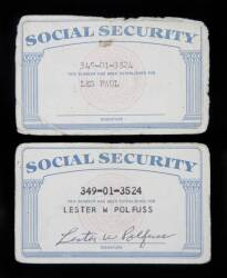 LES PAUL SOCIAL SECURITY CARDS