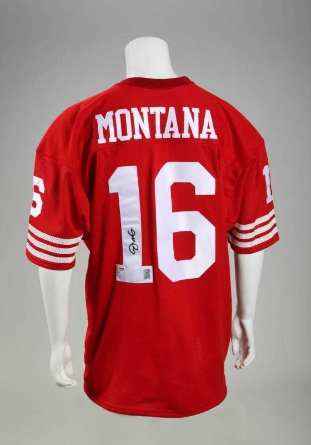 separation shoes f1ed4 bbddb JOE MONTANA SIGNED SAN FRANCISCO 49ers JERSEY - Price ...