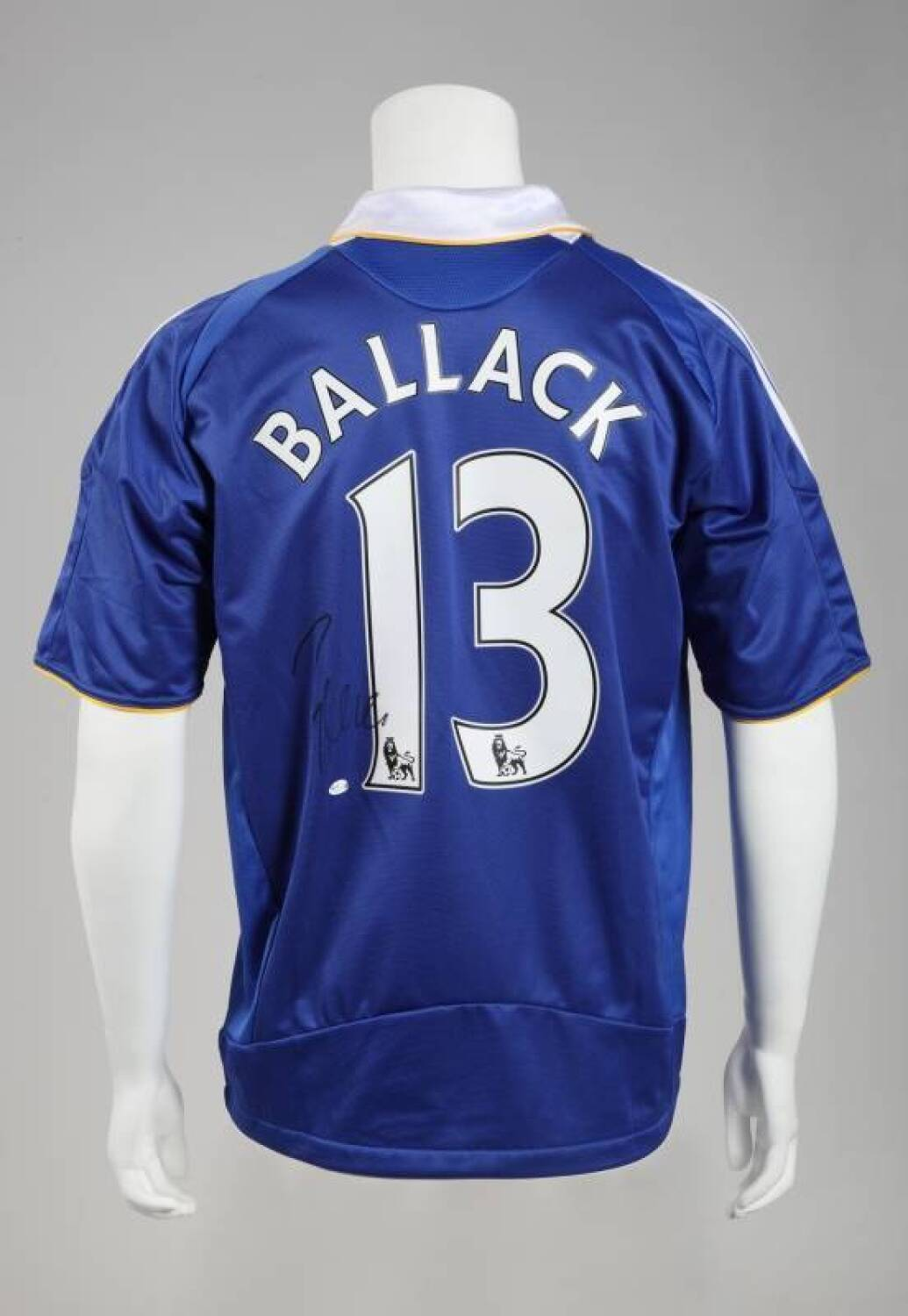 online store 67e08 3be56 MICHAEL BALLACK SIGNED CHELSEA F.C. JERSEY - Current price: $150